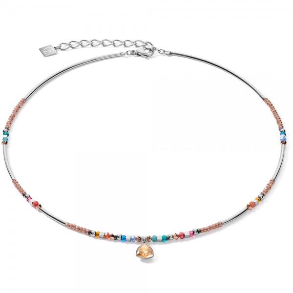 Halskette Anhänger Curvy Triangle Multicolor