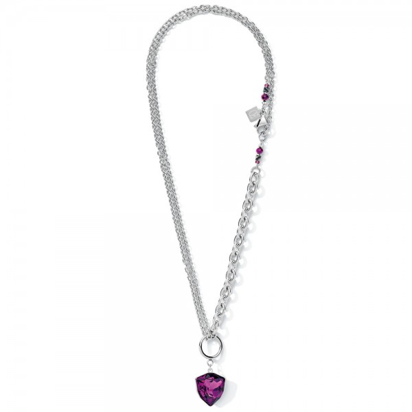 Halskette Magic Crystal & Chunky Chain Amethyst