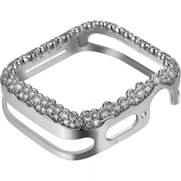 SKY B Champagne Bubbles Apple Watch Case Silber