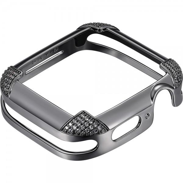SKY B Pavé Corners Apple Watch Case Gun