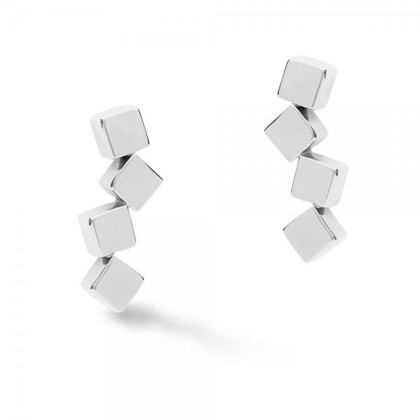 Ohrringe Dancing GeoCUBE® Edelstahl Silber