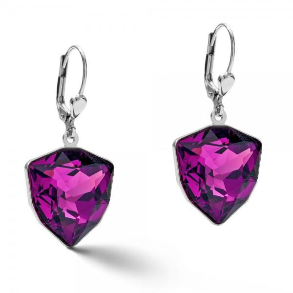 Ohrringe Magic Crystal & Chunky Chain Amethyst