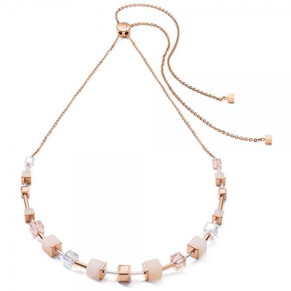 GeoCUBE® Halskette Rosa Aventurin Roségold-Peach