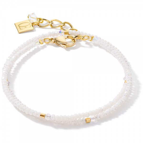 Armband Small Crystal Gold & Weiß