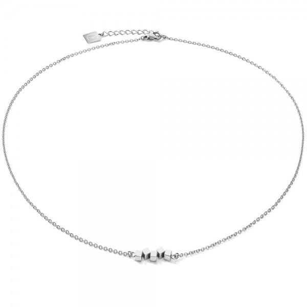 Halskette Dancing GeoCUBE® Small Edelstahl Silber