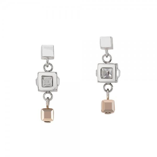 Ohrringe GeoCUBE® Cluster Silber-Rosegold