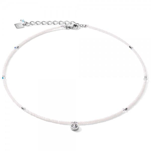 Halskette Small Crystal Silber & Weiß