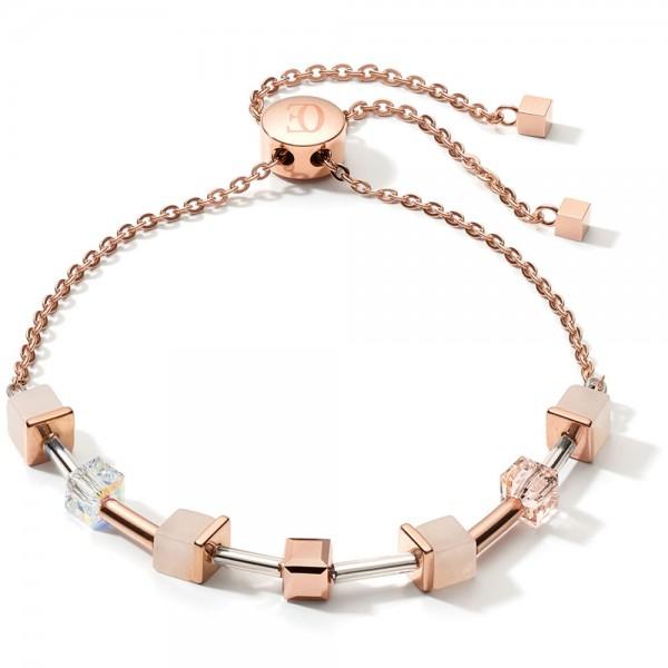GeoCUBE® Armband Rosa Aventurin Roségold-Peach