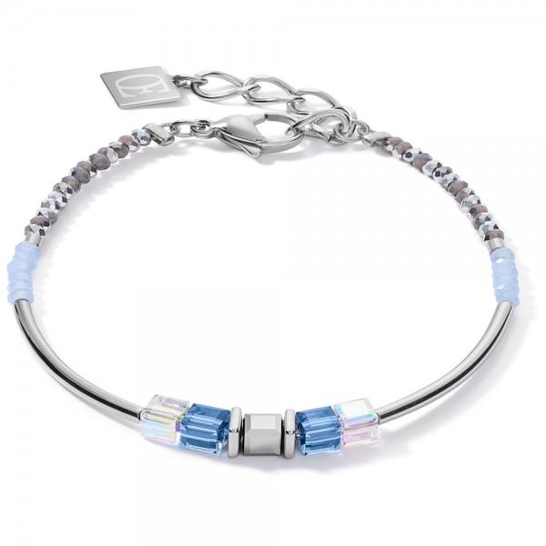 GeoCUBE® Armband Frontline Silber-Blau