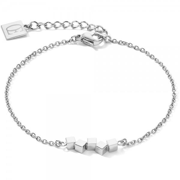 Armband Dancing GeoCUBE® Small Edelstahl Silber